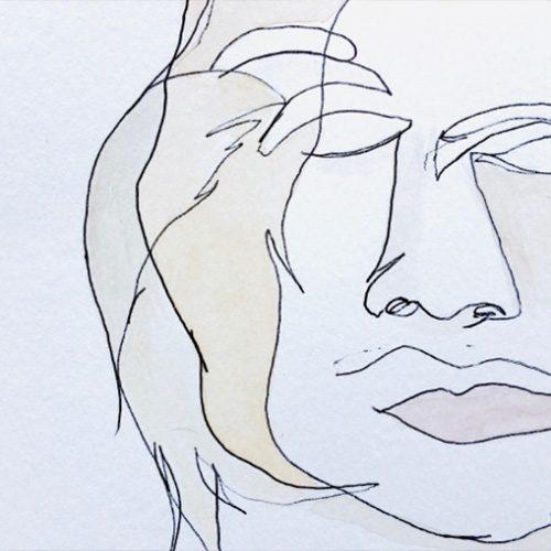 Line art of face