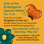Join us for Endangered Species Week