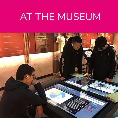 Boys interacting with exhibit